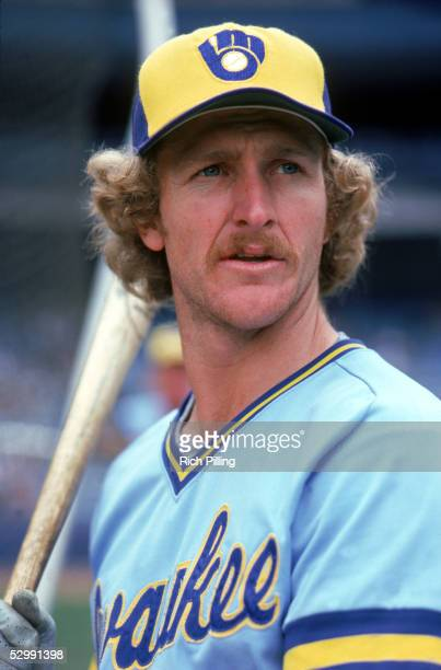 Robin Yount of the Millwaukee Brewers poses during an MLB game Robin Yount played for the TEAM from 19741993