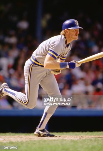 Robin Yount, of the Milwaukee Brewers at bat during a game from his career with the Milwaukee Brewers. Robin Yount played for 20 years all with the...