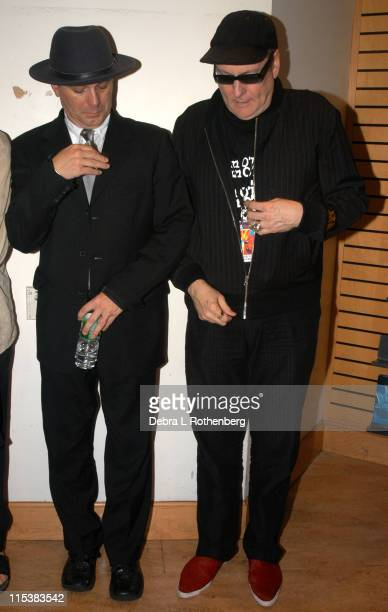 Robin Zander and Rick Nielsen of Cheap Trick during Cheap Trick Perform and Host a Q A Session in to Promote their New CD Special One at Times Square...