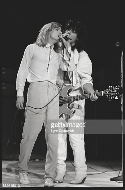 Robin Zander and Tom Petersson of Cheap Trick on Stage