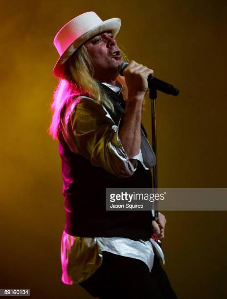 Robin Zander of Cheap Trick performs at Sprint Center on July 21 2009 in Kansas City Missouri