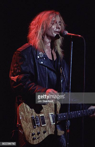 Robin Zander of Cheap Trick performs at the Target Center on November 211990 in Minneapolis Minnesota in 1990