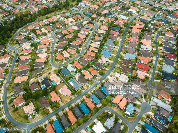 robina, queensland from the air - queensland stock-fotos und bilder