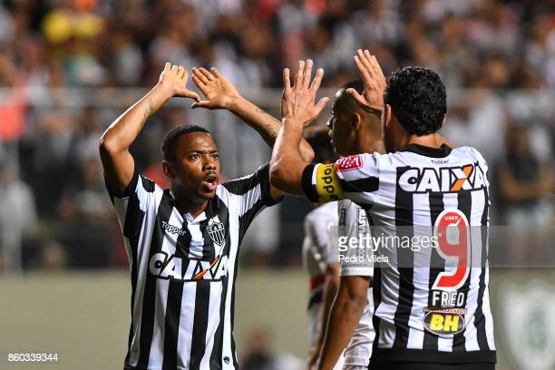 Robinho and Fred of Atletico MG a match between Atletico MG and Sao Paulo as part of Brasileirao Series A 2017 at Independencia stadium on October 11...