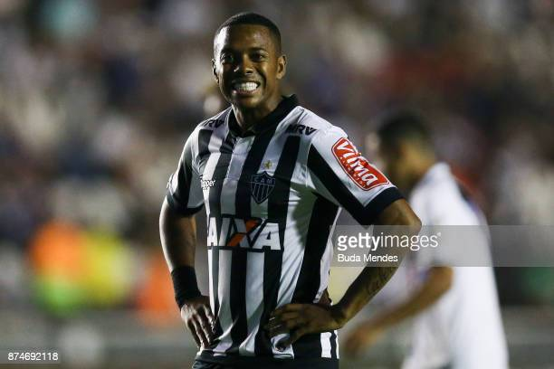 Robinho of Atletico MG reacts during a match between Vasco da Gama and Atletico MG as part of Brasileirao Series A 2017 at Sao Januario Stadium on...
