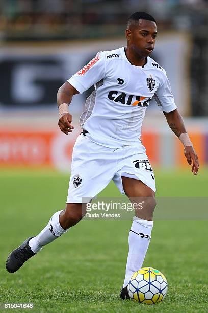 Robinho of Atletico Mineiro controls the ball during a match between Botafogo and Atletico Mineiro as part of Brasileirao Series A 2016 at Arena...