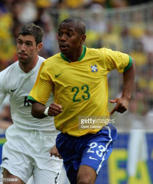Robinho of Brazil during the international friendly match between Brazil and New Zealand at the Stadium de Geneva on June 4, 2006 in Geneva ,...