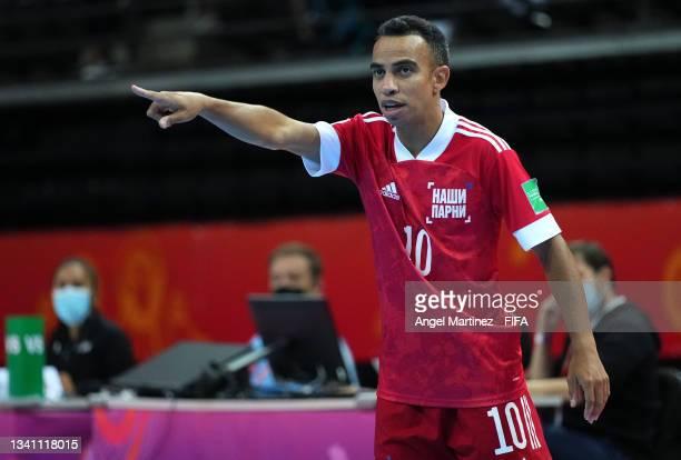 Robinho of RFU looks on during the FIFA Futsal World Cup 2021 group B match between Guatemala and Football Union Of Russia at Kaunas Arena on...