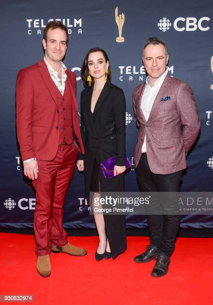 RobinJoel Cool Viviane Audet Alexis Martin arrive at the 2018 Canadian Screen Awards at the Sony Centre for the Performing Arts on March 11 2018 in...