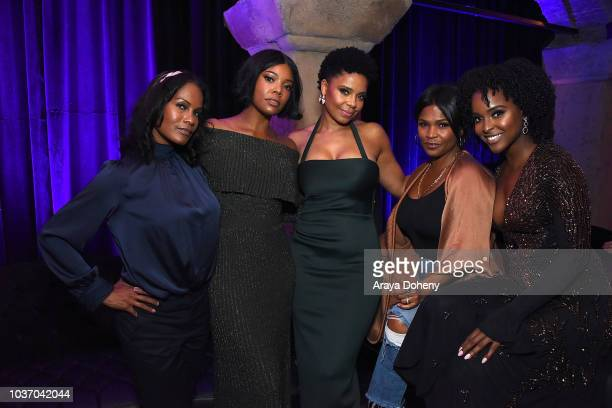 Robinne Lee Gabrielle Union Sanaa Lathan Nia Long and Antoinette Robinson attend the afterparty for a screening of Netlfix's 'Nappily Ever After' at...