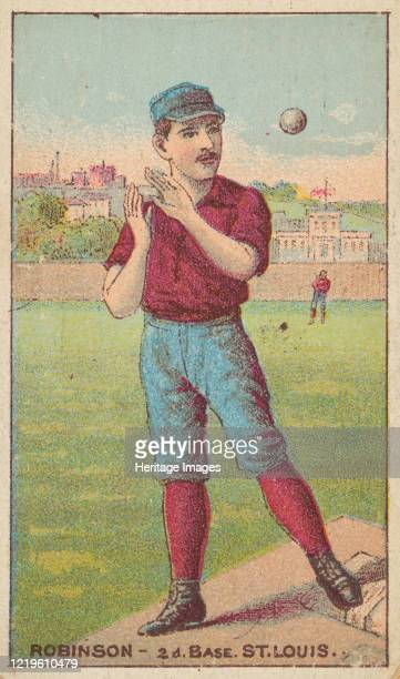 Robinson, 2nd Base, St. Louis, from the Gold Coin series for Gold Coin Chewing Tobacco, 1887. Artist D Buchner & Co.