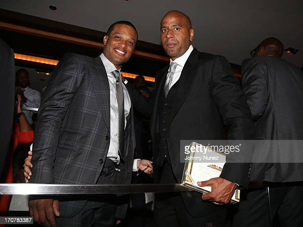 Robinson Cano and Juan 'OG' Perez attend The 40/40 Club 10 Year Anniversary Party at 40 / 40 Club on June 17 2013 in New York City