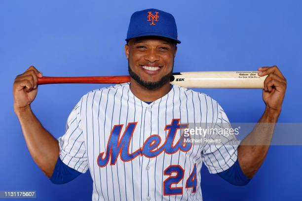 Robinson Cano of the New York Mets poses for a photo on Photo Day at First Data Field on February 21 2019 in Port St Lucie Florida