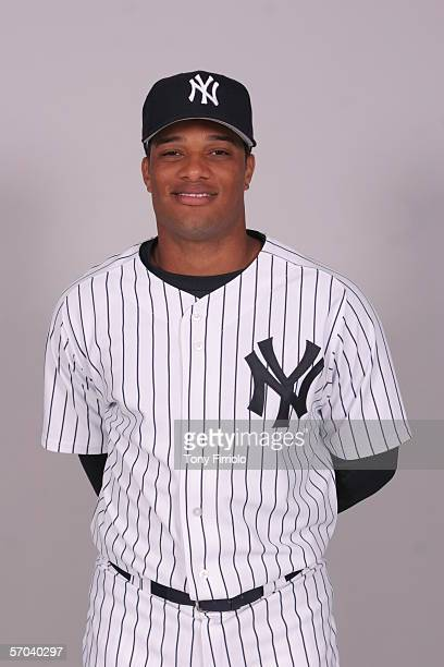 Robinson Cano of the New York Yankees during photo day at Legends Field on February 24 2006 in Tampa Florida
