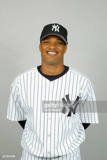 Robinson Cano of the New York Yankees poses for a portrait during photo day at Legends Field on February 25 2005 in Tampa Florida