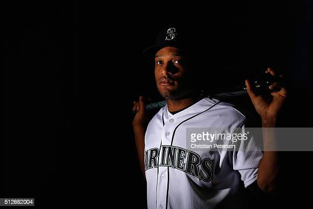 Robinson Cano of the Seattle Mariners poses for a portrait during spring training photo day at Peoria Stadium on February 27 2016 in Peoria Arizona