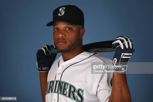 Robinson Cano of the Seattle Mariners poses for a portrait during photo day at Peoria Stadium on February 20 2017 in Peoria Arizona