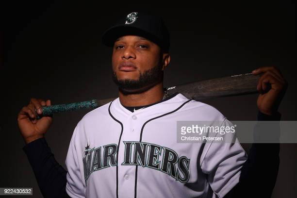 Robinson Cano of the Seattle Mariners poses for a portrait during photo day at Peoria Stadium on February 21 2018 in Peoria Arizona