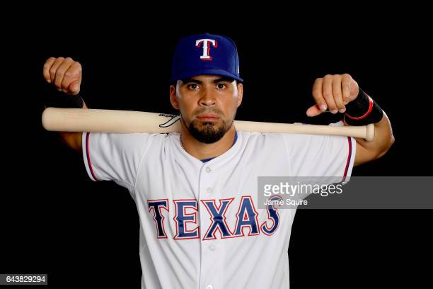 Robinson Chirinos of the Texas Rangers poses on Texas Rangers Photo Day during Spring Training on February 22 2017 in Surprise Arizona