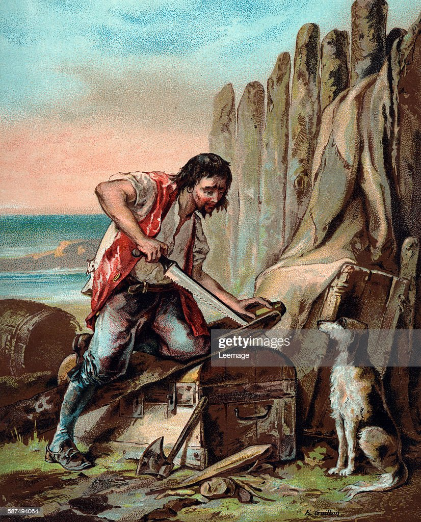 The Life and Adventures of Robinson Crusoe by Defoe : News Photo
