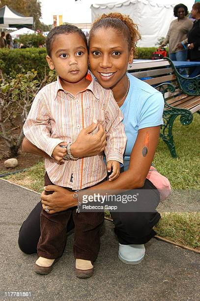 Robinson Peete and Holly Robinson Peete during Hollyrod4Kids Family Carnival at The Culver Studios in Culver City California United States