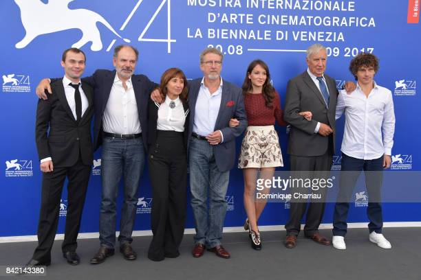 Robinson Stevenin JeanPierre Darroussin Ariane Ascaride Robert Guediguian Anais Demoustier Jacques Boudet and Yann Tregouet attend the 'The House By...