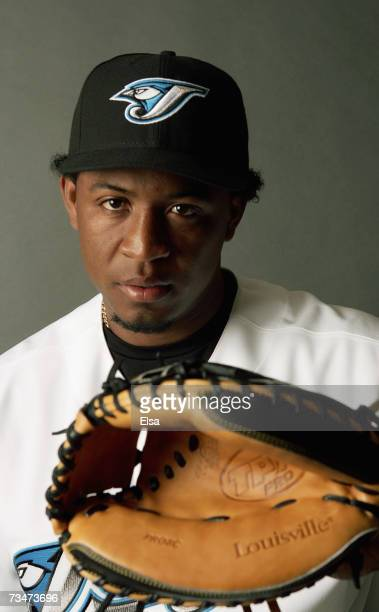 Robinzon Diaz poses for a portrait during the Toronto Blue Jays Photo Day on February 23 2007 at The Bobby Mattick Training Center in Dunedin Florida