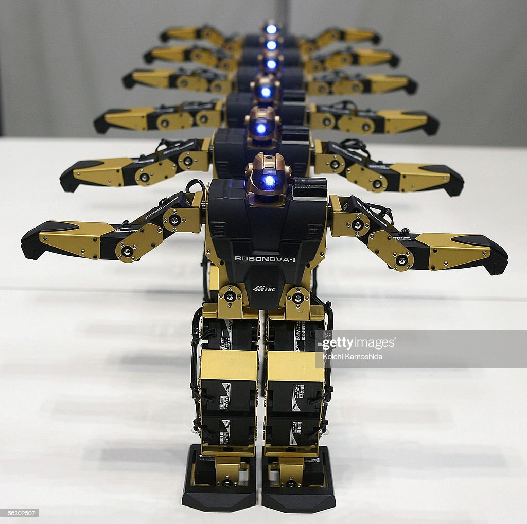 'Robonova-I' of HiTEC freely moves its arms and legs during 2005 International Robot Exhibition on November 30, 2005 in Tokyo, Japan. Robonova-I can sit down, stand on its feet and move all its limbs in a fast motion. The Exhibition is on until December 3.