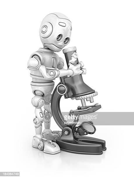Roboter und Mikroskop