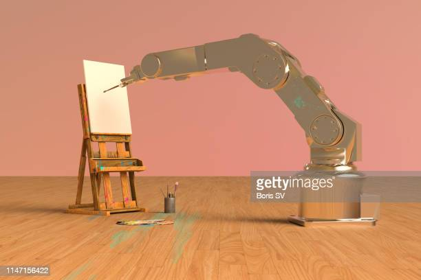 Robot arm learning to paint