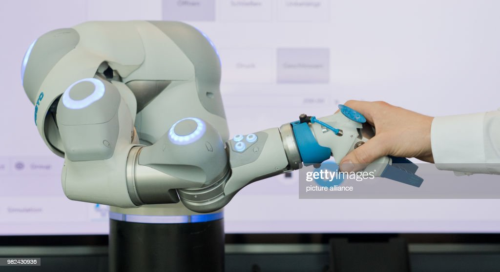A robot arm of the German industrial company Festo on display