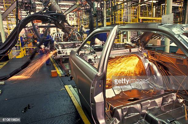 Robot at Automobile industry Sao Paulo State Brazil