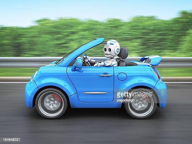 Roboter mit dem Auto