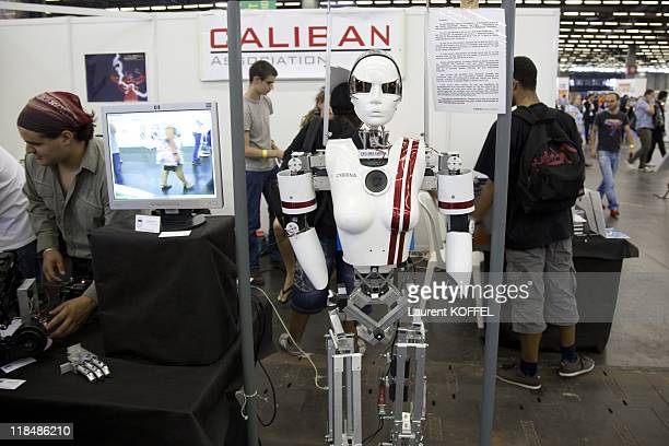 Robot during the Japan Expo Festival on July 3 2011 in Villepinte France