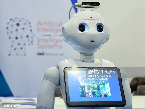 A robot from the Artificial Intelligence and Intelligent Systems laboratory of Italy's National Interuniversity Consortium for Computer Science is...