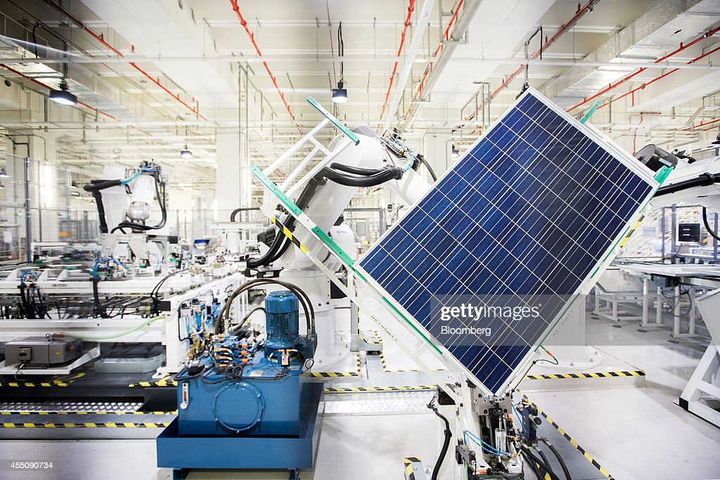 REC Solar ASA Chief Executive Officer Martin Copper Interview And Tour Of Company's Manufacturing Plant : News Photo