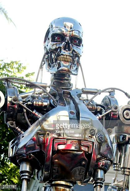 A robot is seen at the world premiere of 'Terminator 3 Rise of the Machines' at the Mann VillageTheater June 30 2003 in Westwood California