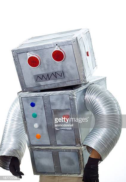 robot - stage costume stock pictures, royalty-free photos & images
