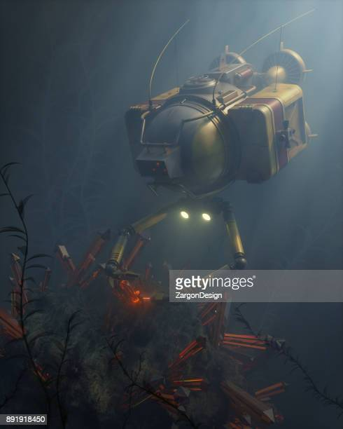 robot submarine - submarine stock pictures, royalty-free photos & images