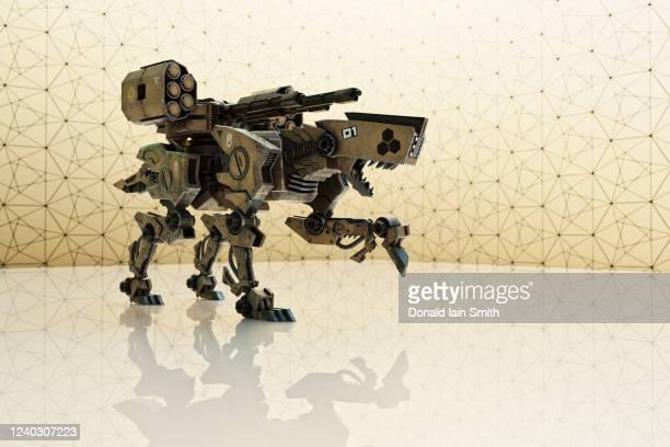 robot weapon platforms - véhicule terrestre sans pilote photos et images de collection