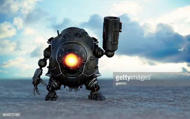 Roboter mit Raketenwerfer