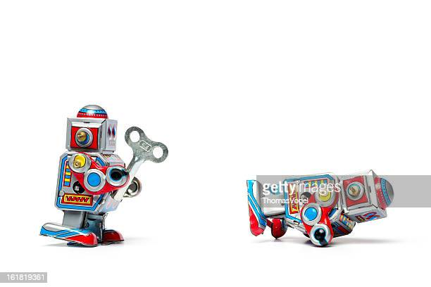 Robotic Assistance - Robot Tin Toy Retro Help Humor