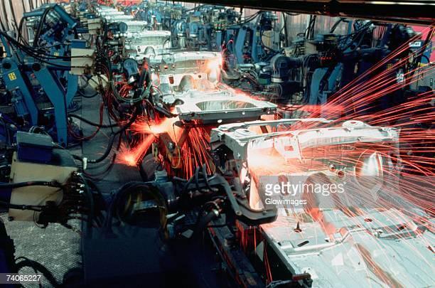 Robotic car frame assembly line, Newark, Delaware