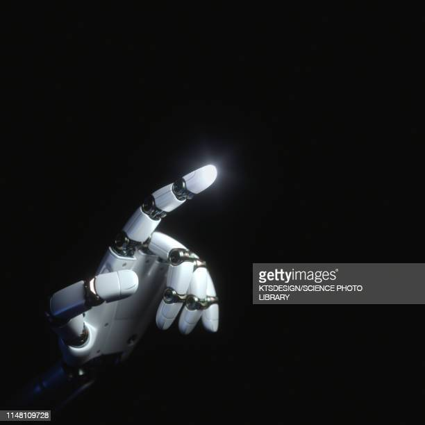 robotic hand, illustration - artificial intelligence stock pictures, royalty-free photos & images