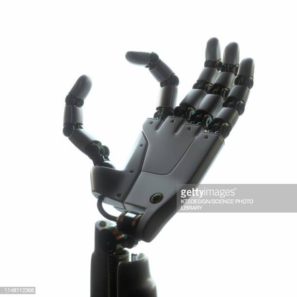 robotic hand, illustration - white background stock pictures, royalty-free photos & images
