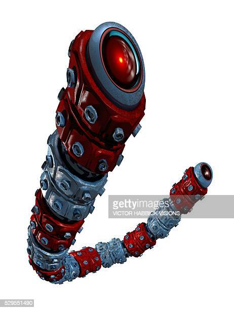 robotic snake, artwork - victor habbick stock pictures, royalty-free photos & images