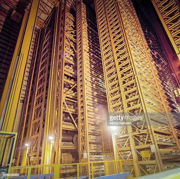 Robotic steel parts storage in steelworks