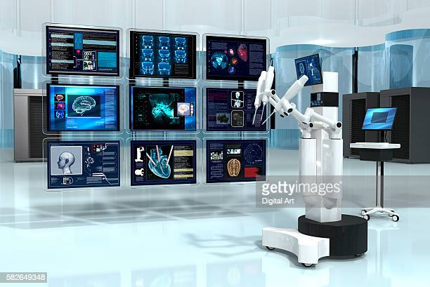 Robotic Surgeon With 9 Screens