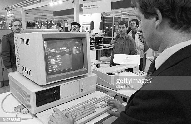 Robotron CAD Station computer aided design technology developed by the nationallyowned company VEB Kombinat Robotron presented at the Leipzig Fair