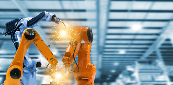 Robots and mechanical arms in industrial plants the technology 1250915628